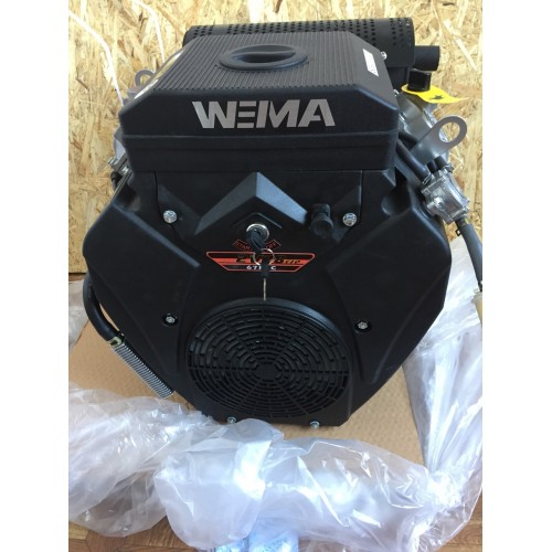 Бензиновый двигатель WEIMA WM2V78F (20 л.с.,2 цилиндра, вал шпонка / конус)
