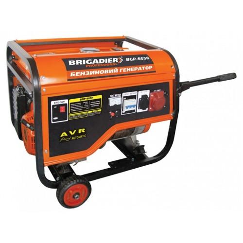 Бензогенератор Brigadier Professional BGP-603H, 3-фазный, 6.0 кВт